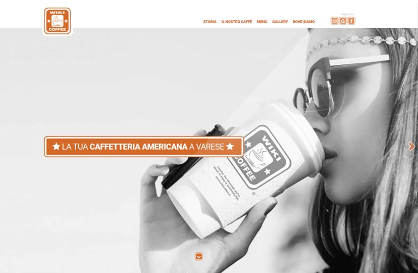 Design sito web bar caffetteria